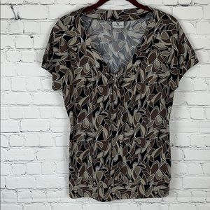 Brown Patterned Blouse